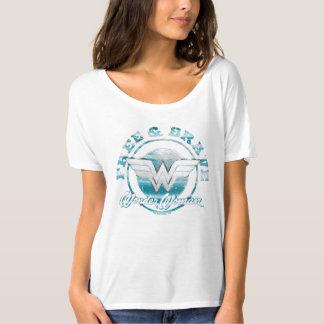 自由なワンダーウーマン及び勇敢でグランジなグラフィック Tシャツ