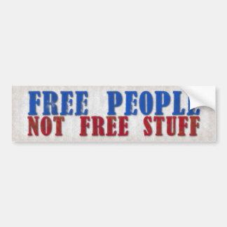 自由な人々は物を放しません バンパーステッカー