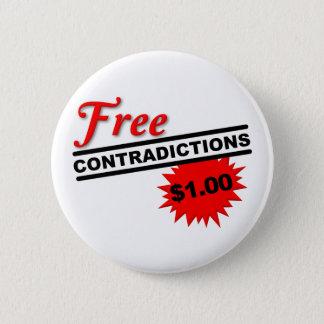 自由な否定おもしろいなボタンのバッジ 缶バッジ