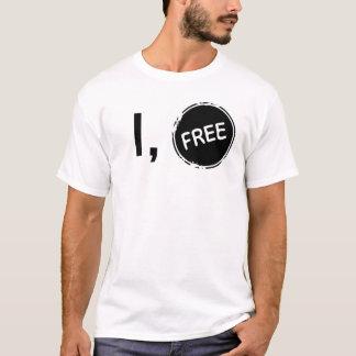 自由な女性のI Tシャツ