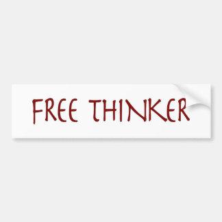 自由な思想家 バンパーステッカー