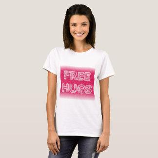 自由な抱擁は3D氷った雪の効果のTシャツを冷却します Tシャツ