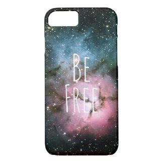 自由な星雲の星の銀河系のヒップスターのオタクの宇宙があって下さい iPhone 8/7ケース