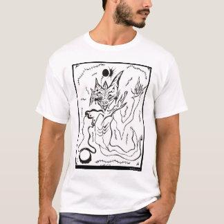 自由な流れ球の火の抽象芸術のオリジナルのTシャツ Tシャツ