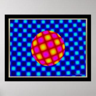 自由な浮遊球の目の錯覚 ポスター