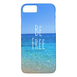 自由な海のビーチの熱帯wanderlust旅行quoがあって下さい iPhone 8/7ケース