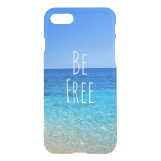 自由な海のビーチの熱帯wanderlust旅行quoがあって下さい iPhone 8/7 ケース
