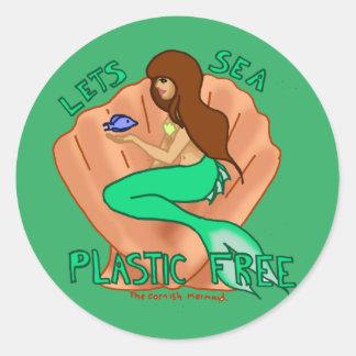 自由な海のプラスチックを許可します! ステッカー