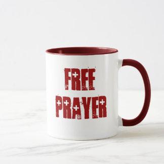 自由な祈りの言葉の赤い援助のマグ マグカップ
