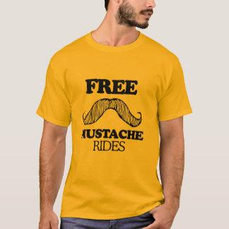 自由な髭はTシャツに乗ります Tシャツ