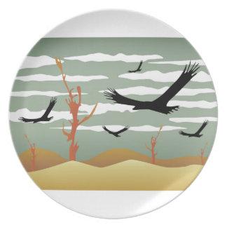 自由な鳥の景色 プレート