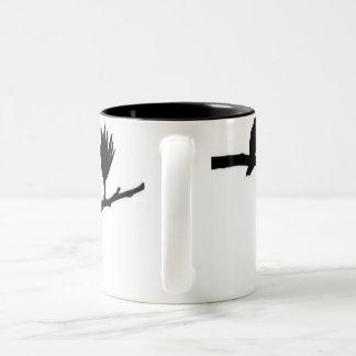 自由な鳥 ツートーンマグカップ