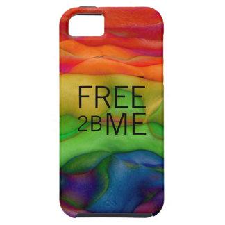 自由な2B私ゲイプライドのファンキーな虹 iPhone SE/5/5s ケース
