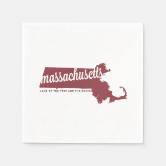 自由な|のりんごの赤のマサチューセッツ|土地 スタンダードカクテルナプキン