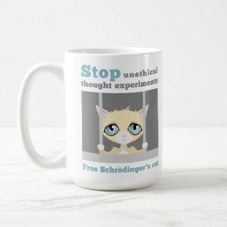 自由なSchrodingerの猫 コーヒーマグカップ
