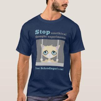 自由なSchrodingerの猫 Tシャツ