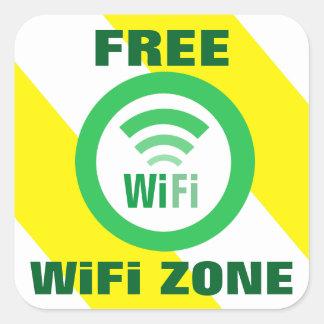 自由なWiFiの地帯の印 スクエアシール