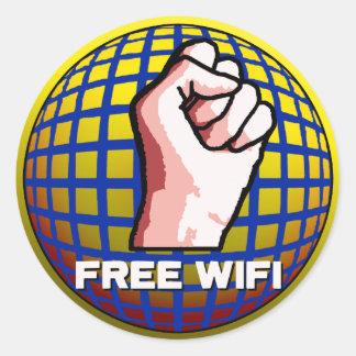 自由なWiFi ラウンドシール