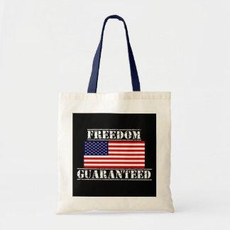 自由によって保証される米国の旗のトートバック トートバッグ