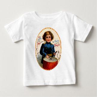 自由のおよび勇敢の ベビーTシャツ