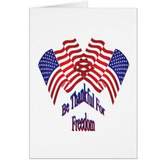 自由のために感謝していて下さいあって下さい カード