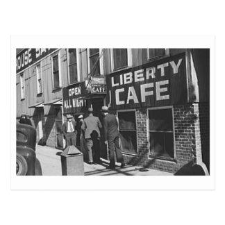 自由のカフェのヴィンテージの1939年のレストランの写真 ポストカード