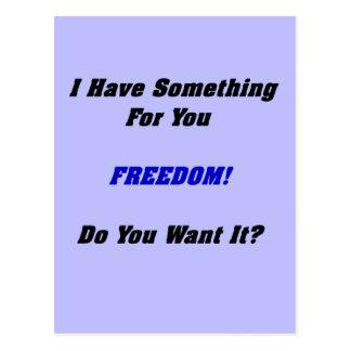 自由のギフト ポストカード
