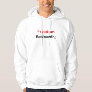自由のスケートボードをするセーター#1 パーカ