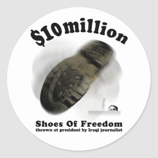 自由のステッカーの靴 ラウンドシール