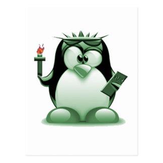 自由のタキシード(Linuxのタキシード) ポストカード