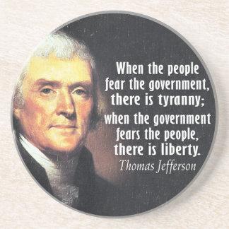 自由のトーマス・ジェファーソンの引用文 コースター