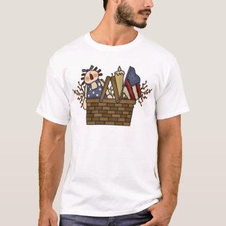 自由のバスケット Tシャツ