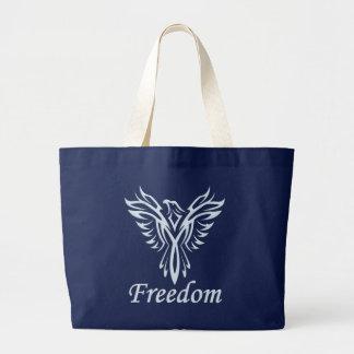 自由のワシのバッグ-スタイル及び色を選んで下さい ラージトートバッグ