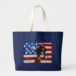 自由のワシのaceoのバッグ ラージトートバッグ