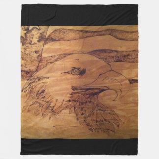 自由のワシ毛布 フリースブランケット