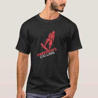 自由の呼出しの独占的なティー Tシャツ