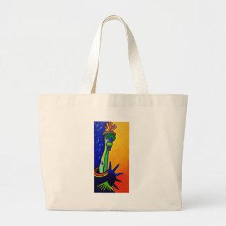 自由の女性 ラージトートバッグ