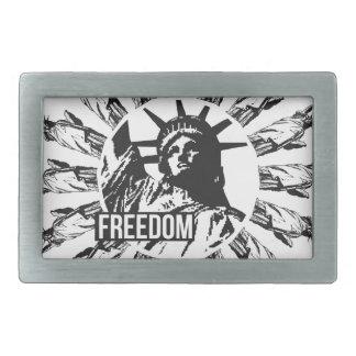 自由の女神群 長方形ベルトバックル