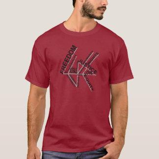 自由の平等の正義の暗闇のティー Tシャツ
