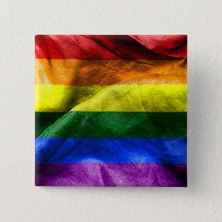 自由の旗 5.1CM 正方形バッジ