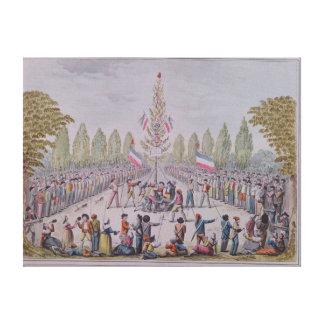 自由の木のプランテーション キャンバスプリント