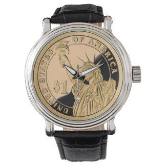 自由の硬貨 腕時計