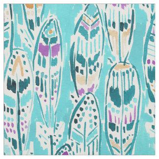 自由の羽のお洒落なBohoの水彩画のプリント ファブリック