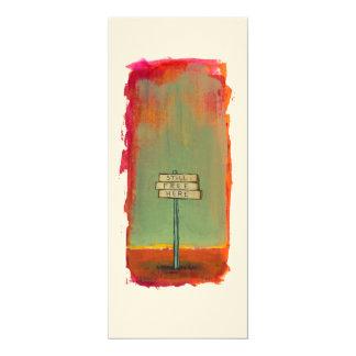 自由の自由な思想家の印の絵画のオリジナルの芸術 10.2 X 23.5 インビテーションカード