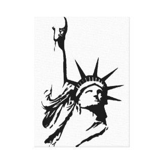 自由の落書き キャンバスプリント