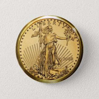 自由の金地金の硬貨 5.7CM 丸型バッジ