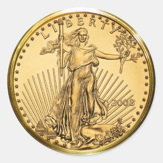 自由の金地金の硬貨(6/20パック) ラウンドシール
