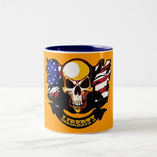 自由は自由ではないです ツートーンマグカップ