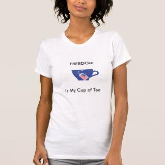 自由は、私のお茶です Tシャツ