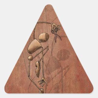 自由を見つける方法 三角形シール